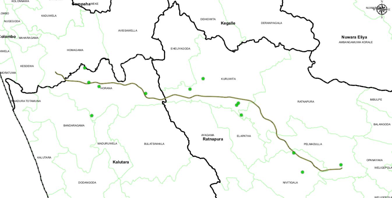 ruwanpura highway map