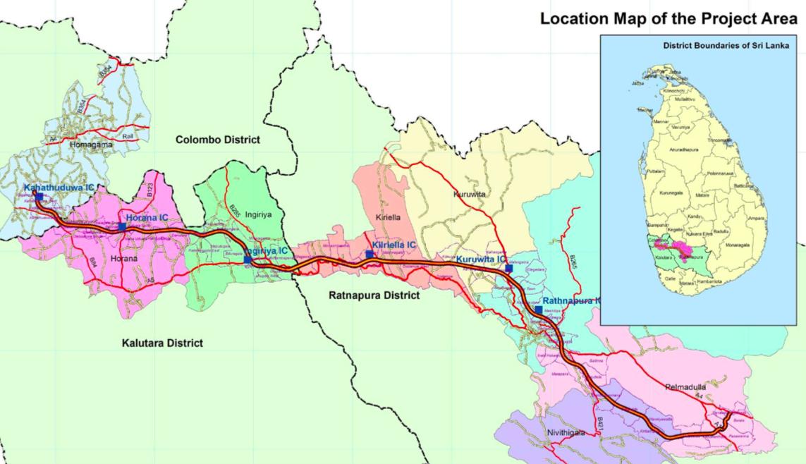 ruwanpura expressway route map
